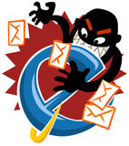 Internet Hack. Security on the web. Vector Illustration royalty free illustration