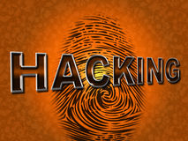 Internet Hacking Represents World Wide Web And Attack Royalty Free Stock Photo