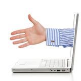 Internet handshaking. Royalty Free Stock Photography