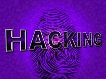 Internet-het Binnendringen in een beveiligd computersysteem vertegenwoordigt World Wide Web en Aanval Stock Fotografie