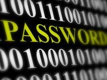 Internet-het concept van de wachtwoordveiligheid Royalty-vrije Stock Afbeelding