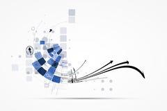 Internet-het concepten van de bedrijfs computer nieuwe technologie oplossingen Royalty-vrije Stock Foto