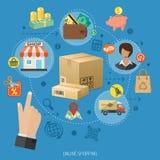 Internet-het Winkelen Infographic Royalty-vrije Stock Foto's