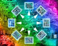 Internet and high-tech. Abstract image on the theme computers, the Internet and high-tech Royalty Free Stock Photo