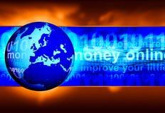 Internet-Hintergrund Lizenzfreie Stockfotos