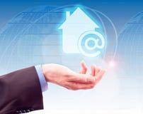 Internet Home do símbolo Foto de Stock