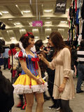 Internet host Maaika Westen interviews Snow White Stock Images