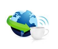 Internet hotspots coffee mug concept Stock Photo