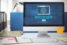 Internet HTML homepage-Browser-großes Daten-Konzept Stockfotos