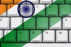 Internet i Indien stock illustrationer