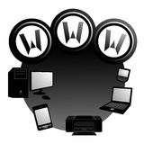 Internet icon Stock Image