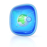 Internet icon 3d Royalty Free Stock Image