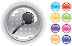 Internet icon and buttons set. Internet icon. Perforated buttons. Isolated on a white background. Vector will be additional Stock Images