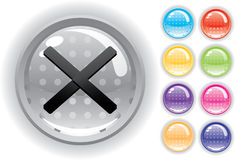 Internet icon and buttons set. Internet icon. Perforated buttons. Isolated on a white background Royalty Free Stock Photo