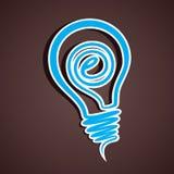 Internet icon. Creative design internet icon in bulb Royalty Free Stock Photo