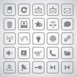Internet icon. On gray background Royalty Free Stock Image