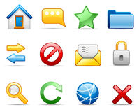 Internet icon set Royalty Free Stock Photography