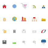 Internet icon set Stock Images