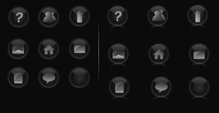 Internet icon set. A set of black and white internet icons Stock Photo