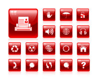 Internet icon set Royalty Free Stock Images