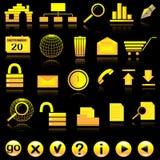 Internet icon set Royalty Free Stock Images