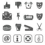 Internet icon set black 2 Stock Photography