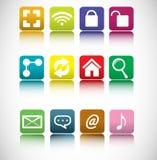 Internet icon  set Stock Images