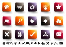 Internet Icon Set | Warm High Gloss Royalty Free Stock Photography