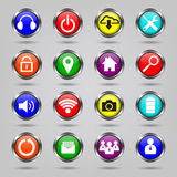 Internet, icone di Web site impostate illustrazione vettoriale