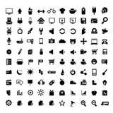 Internet, icone universali messe Fotografia Stock Libera da Diritti