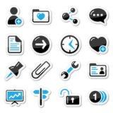 Internet, iconos del Web como escrituras de la etiqueta Fotografía de archivo libre de regalías