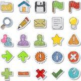 Internet, iconos del Web site fijados Imagen de archivo