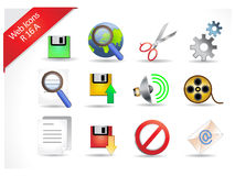 Internet Icons 16 R-series stock photography