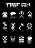 Internet Icons. On a black background Royalty Free Stock Photography