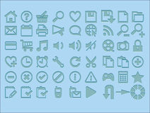Internet icons. Popular icons on the web illustration Royalty Free Illustration