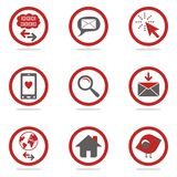 Internet icons. Concept in two colors Stock Photography