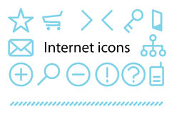 Internet icons. Internet simple vector icons eps 8 stock illustration