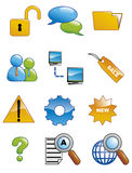 Internet icons 3 Stock Images