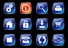Internet icons. A set of useful internet icons Stock Photos