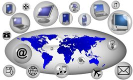 Internet icons Stock Image