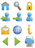 Internet icons. Vector illustration Shiny internet icons Vector Illustration