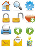 Internet icons Stock Photo