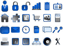 Internet icons Stock Photos