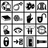 Internet icons Stock Photography