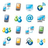 Internet icons. Set of colorful web icons isolated on white Stock Photography