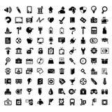 100 internet icons. Big set of web apps icons, internet icon set Royalty Free Stock Image