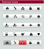 Internet icons black series Royalty Free Stock Image