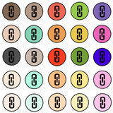 Internet icons - buttons with arrows vector set. Internet icons - colorful buttons with arrows vector set - white background Royalty Free Stock Photos
