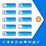 Internet Icons and buttons Stock Photos