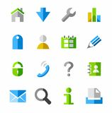 Internet icons, colored. Stock Images